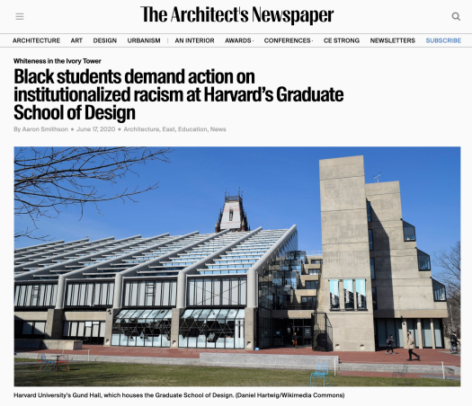 Harvard GSD Article